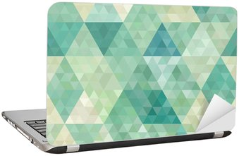 seamless background with abstract geometric ornament Laptop Sticker