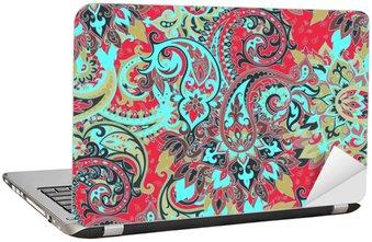 Seamless paisley pattern Laptop Sticker