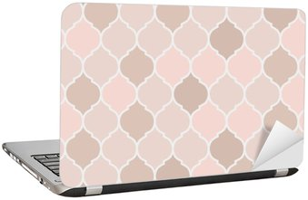 Seamless pattern pink tiles, vector Laptop Sticker