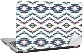 Laptop Sticker seamless pattern with ethnic ornament