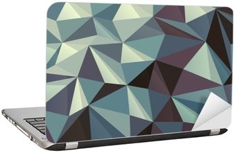 Laptop Sticker Triangle Abstract Geometric Pattern