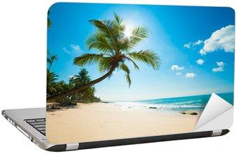 Tropical beach in the sun Laptop Sticker