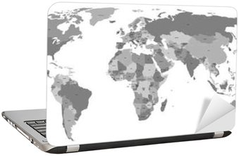 Vector world map with country labels wall decal pixers we vector world map with country labels laptop sticker gumiabroncs Images
