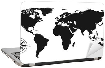 Vector world map sticker pixers we live to change vector world map laptop sticker gumiabroncs Images