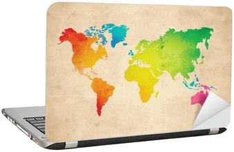 Vector world map wall mural pixers we live to change vector world map laptop sticker gumiabroncs Images