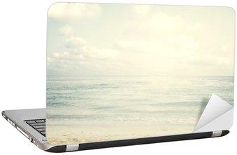 Laptop Sticker Vintage tropical beach in summer