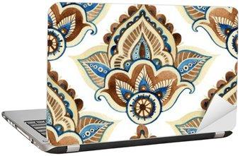 Watercolor indian ornament Laptop Sticker
