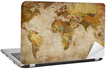 World Map Laptop Sticker