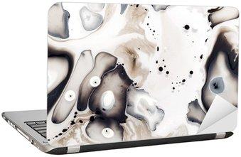 Laptopdekor Abstrakt konstverk på vattnet.