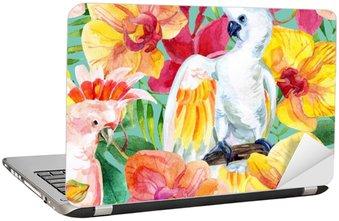 Laptopdekor Akvarell Australian kakadua seamless