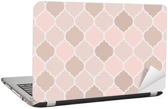 Laptopdekor Seamless mönster rosa kakel, vektor