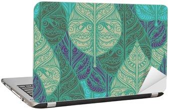 Laptopdekor Sömlös mönster med blad