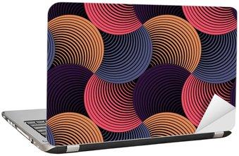 Laptopdekor Utsmyckade geometriska Petals Grid, abstrakt vektor sömlösa mönster