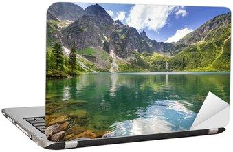 Laptopdekor Vackra landskap i Tatrabergen och sjö i Polen
