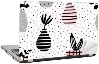 Laptopdekor Vaser och krukor Seamless mönster