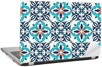 Laptopdekor Vektor smidig konsistens. Vackra färgade mönster för design och mode med dekorativa element