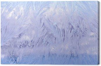 Leinwandbild Декоративный морозный узор на стекле