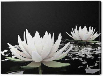 Leinwandbild 3d lotus auf dem Wasser