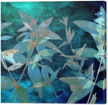 Leinwandbild Abstract Aquarell Hintergrund und Zweigwerk. Gemischte Medien