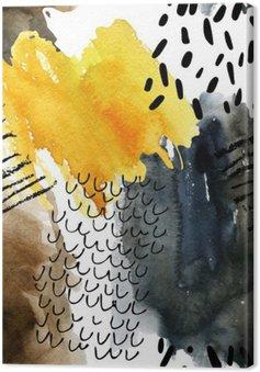 Leinwandbild Abstract Aquarell nahtlose Muster in Herbstfarben.
