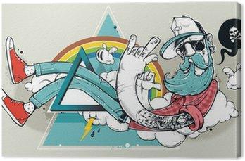 Leinwandbild Abstract graffiti hipster