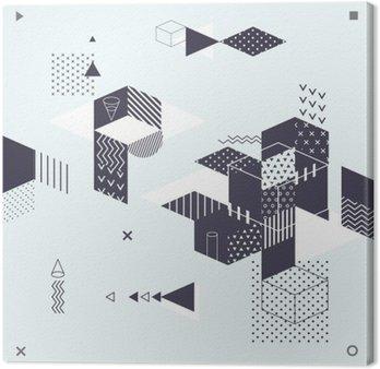 Leinwandbild Abstract modern geometrischen Hintergrund