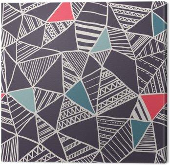 Leinwandbild Abstract seamless doodle Muster