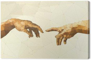 Leinwandbild Abstrakt Gottes Hand Vektor-Illustration
