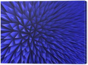 Leinwandbild Abstrakt Poligon Chaotic Blauer Hintergrund