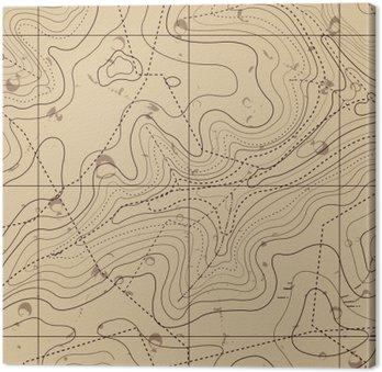 Leinwandbild Abstrakt Retro Topographie Karte Hintergrund