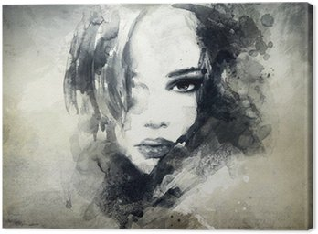 Leinwandbild Abstrakt woman portrait