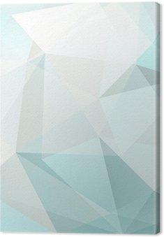 Leinwandbild Abstrakte Dreieck Hintergrund, Vektor