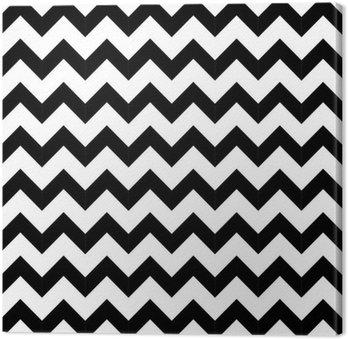 Leinwandbild Abstrakte geometrische Zick-Zack-nahtlose Muster. Vektor
