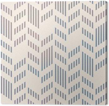 Leinwandbild Abstrakte Nahtlose geometrische Vektor-Chevron-Muster. Mesh-backgro