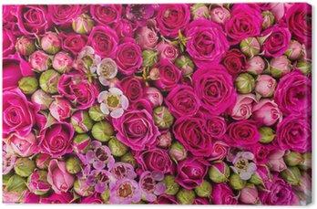 Leinwandbild Abstrakter Hintergrund von Blumen