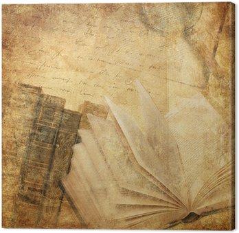 Leinwandbild Alte Bücher