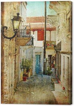 Leinwandbild Alten griechischen Straßen-künstlerisches Bild