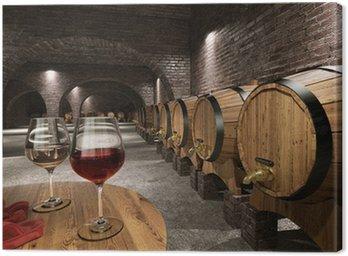 Leinwandbild Alten Weinkeller