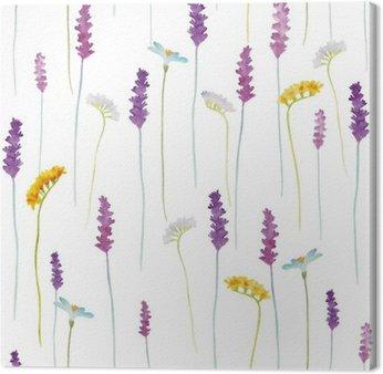 Leinwandbild Aquarell-Blumen-Muster