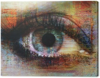 Leinwandbild Auge Textur