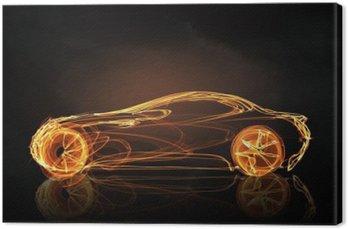 Leinwandbild Auto-Licht-Symbol