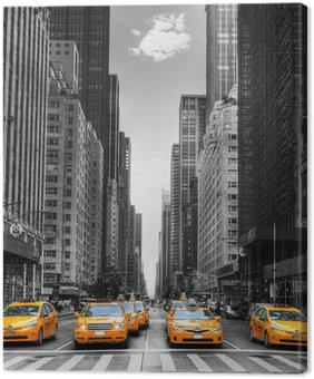 Leinwandbild Avenue mit Taxis in New York.