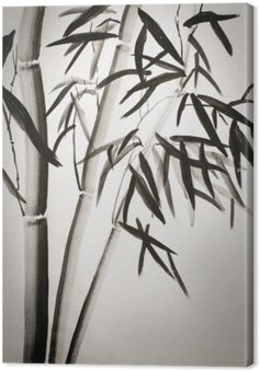 Leinwandbild Bambus-Blätter