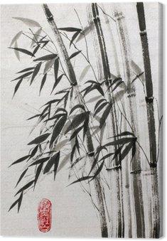 Leinwandbild Bambus ist ein Symbol für ein langes Leben und Wohlstand