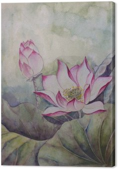 Leinwandbild Beautiful blooming lotus