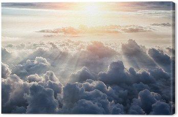Leinwandbild Beautiful blue sky background