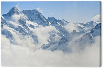Leinwandbild Berglandschaft in den Alpen