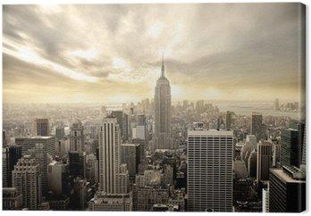 Leinwandbild Bewölkter Himmel über Manhattan