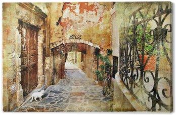 Leinwandbild Bildliche alten Straßen von Griechenland, Kreta