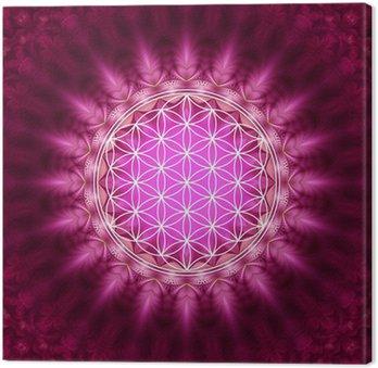 Leinwandbild Blume des Lebens - Energetisierung, Heilige Geometrie